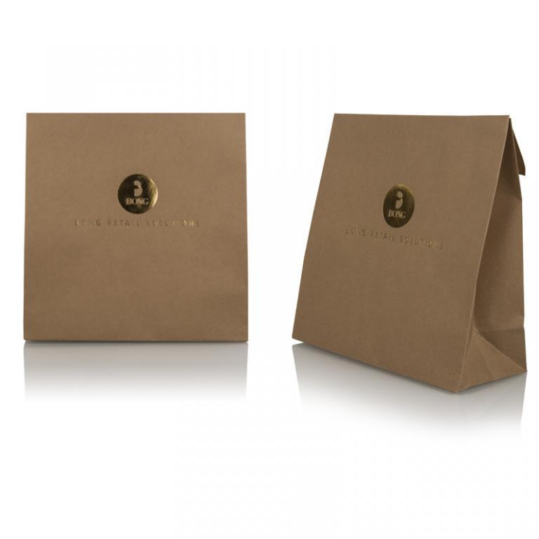 Bong Retail Solutions - brown_gold_retail_gift_bag